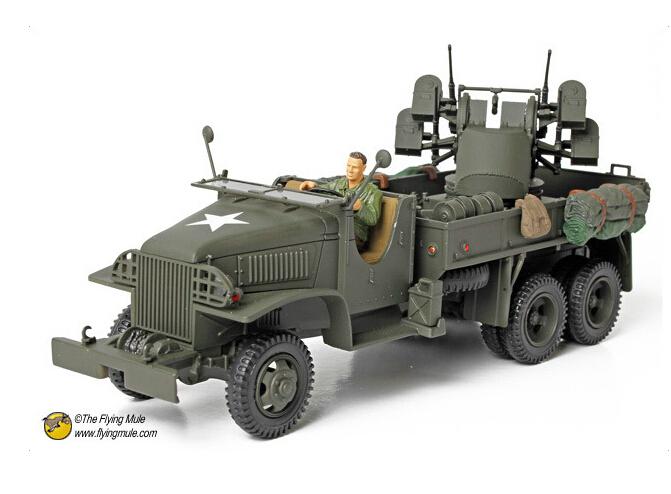FOV 80060 1:32 WWII M35 truck quadruple antiaircraft gun model collection grade alloy model(China (Mainland))