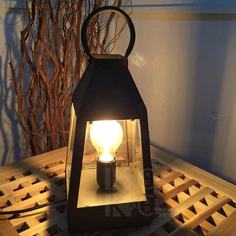 loft American country iron industry retro Coffee hall lantern glass table lamp edison light bulb bedside decoration fixture lamp(China (Mainland))