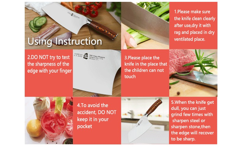 """Buy 7"""" Meat Clever Knife German Steel 1.4116 Pakkawood Handle Stainless Steel Sharp Edge Kitchen Blade Chef Chopping Cutting Bones cheap"""