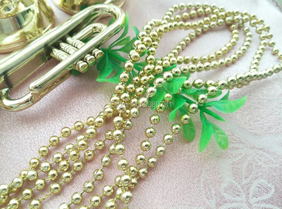 wholesale 280cm christmas tree ornaments decoration 4mm bead chain garland new year party decoration DIY plastic decoration(China (Mainland))