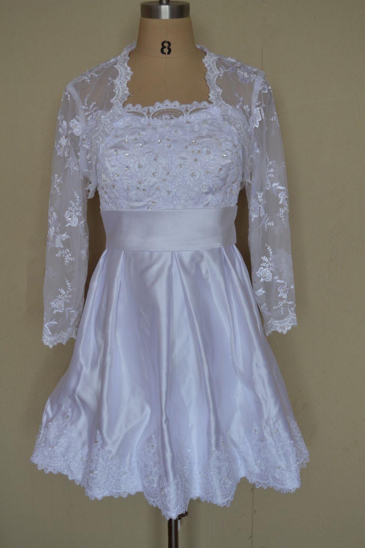 Best a line hot sale fashion new short wedding dress 2016 for Short wedding dress sale