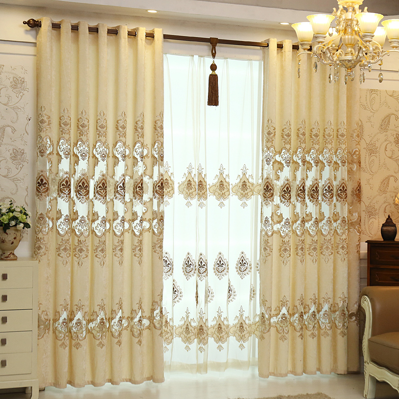High End European Style Luxury Villa Living Room Curtains
