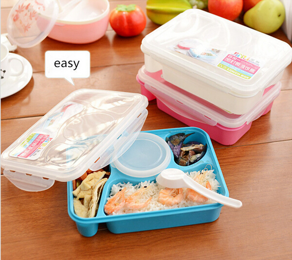1pc bento lunch box fully sealed food 4 compartment bento box soup bowl with. Black Bedroom Furniture Sets. Home Design Ideas