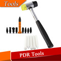 Auto Repair Dent Removal PDR Tools Rubber Hammer with 5pcs POM Delrin Knock Down Aluminum Tap