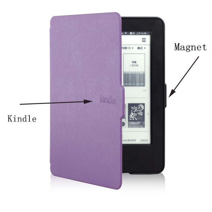 Original 1:1 Leather Cover Smart Case for Amazon Kindle 7th Generation New 2014 Ebook Reader + Screen Protector + Stylus(China (Mainland))