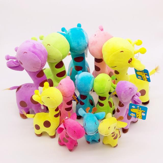 3 шт./лот красочные супер милый 1 компл. 3 размер плюшевые жираф чучела и плюшевые игрушки детей Diy каваи подарок для детей BL1120