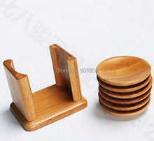 7pcs Bamboo Wood Round Trays For Tea Trays With Shelf For On Sale 100 Natural