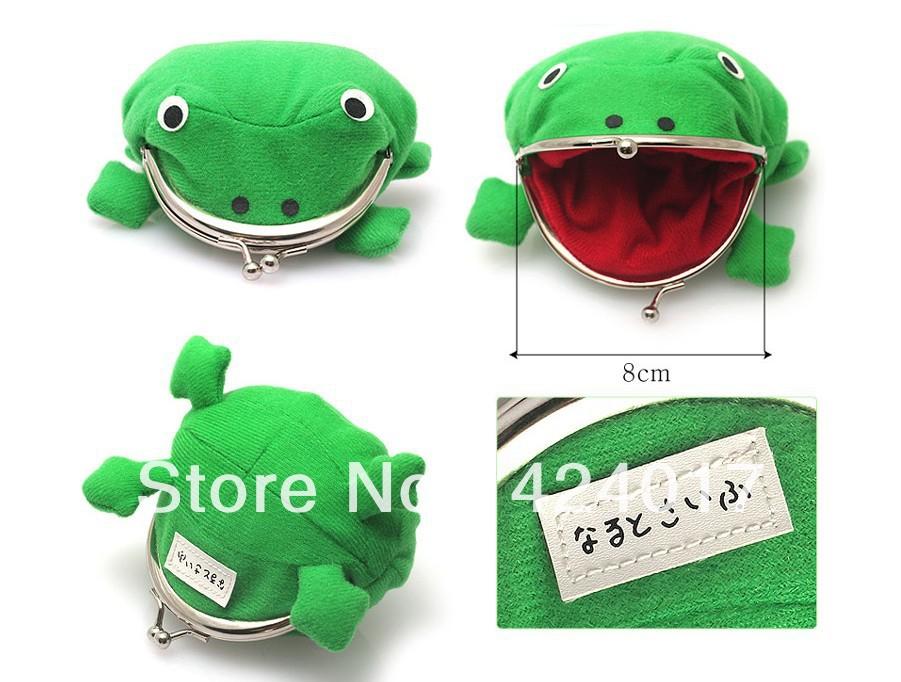 CUTE ! Uzumaki Naruto Frog shape coin purse Wallet Bag(China (Mainland))