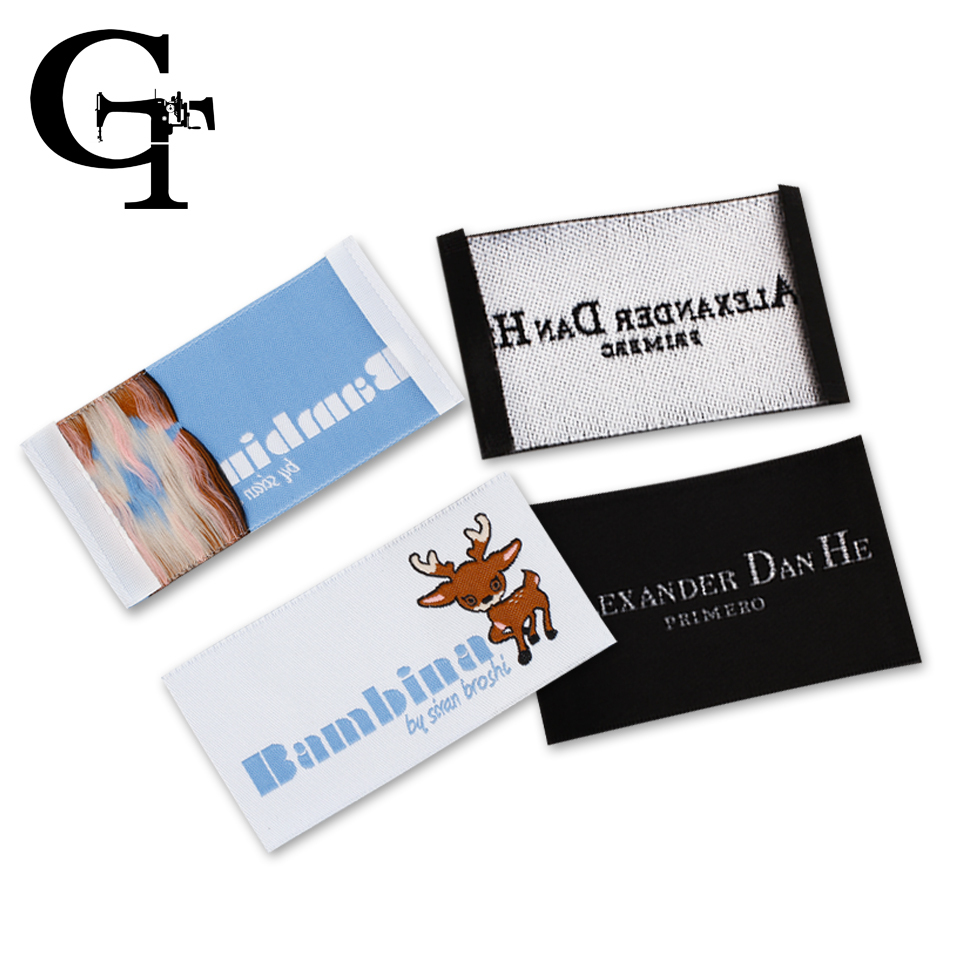 custom logo brand name woven clothing labels tags,customized clothes garment etiquetas main label tag for clothing labels(China (Mainland))