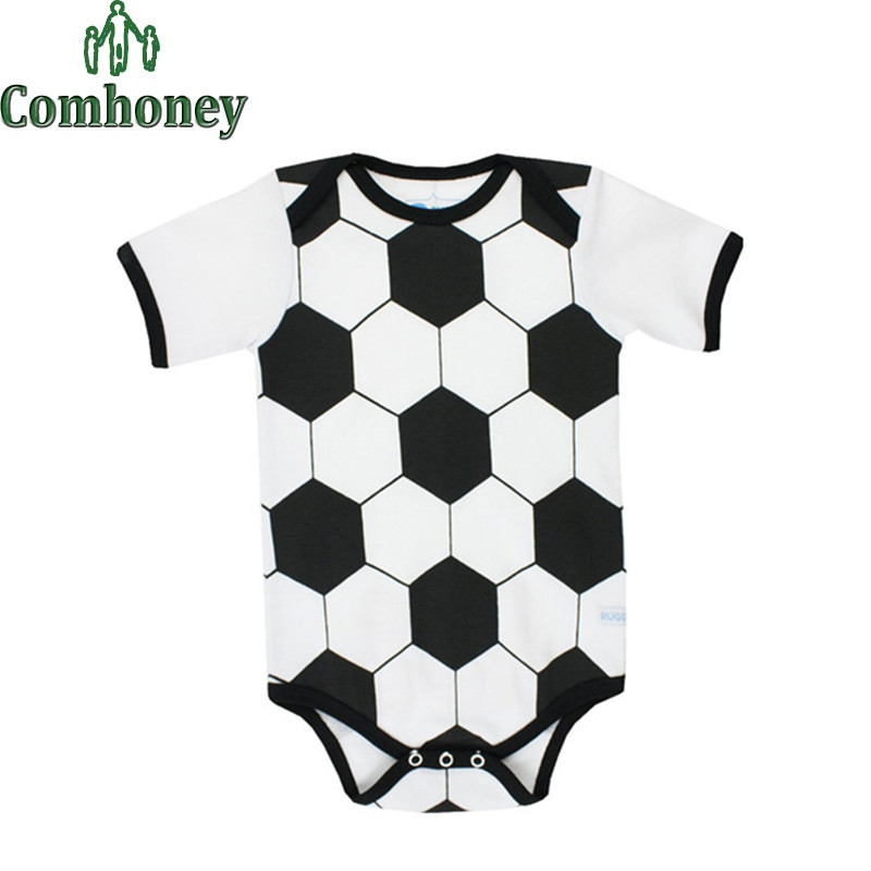 Baby Sport Romper Summer Short Sleeve Baby Football Softball Rugby Pattern Romper Newborns Baby Infant Toddlers Next Clothes(China (Mainland))