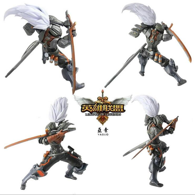 2016 LOL game Yasuo the unforgiven pvc action figure collection model brinquedos kids toys juguetes 25cm hot sale