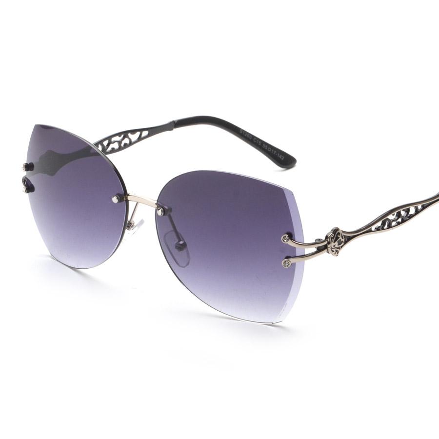 Top Grade Rimless Luxury Sunglasses Fashion Eyewear Vintage Retro Sun Glasses Women Brand Designer UV400 oculos de sol(China (Mainland))