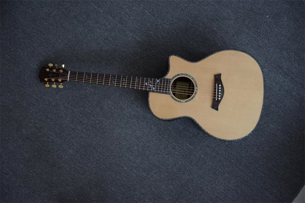 Solid top rosewood back and sides Ebony fingerboard 814ce 41'acoustic guitar Top Quality for Ray(China (Mainland))