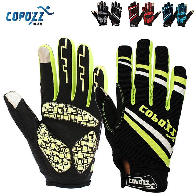 Copozz Brand New GEL Full Finger Men Cycling Gloves mtb bike gloves/bicycle ciclismo racing sport breathable thick shockproof - COPOZZ Store store
