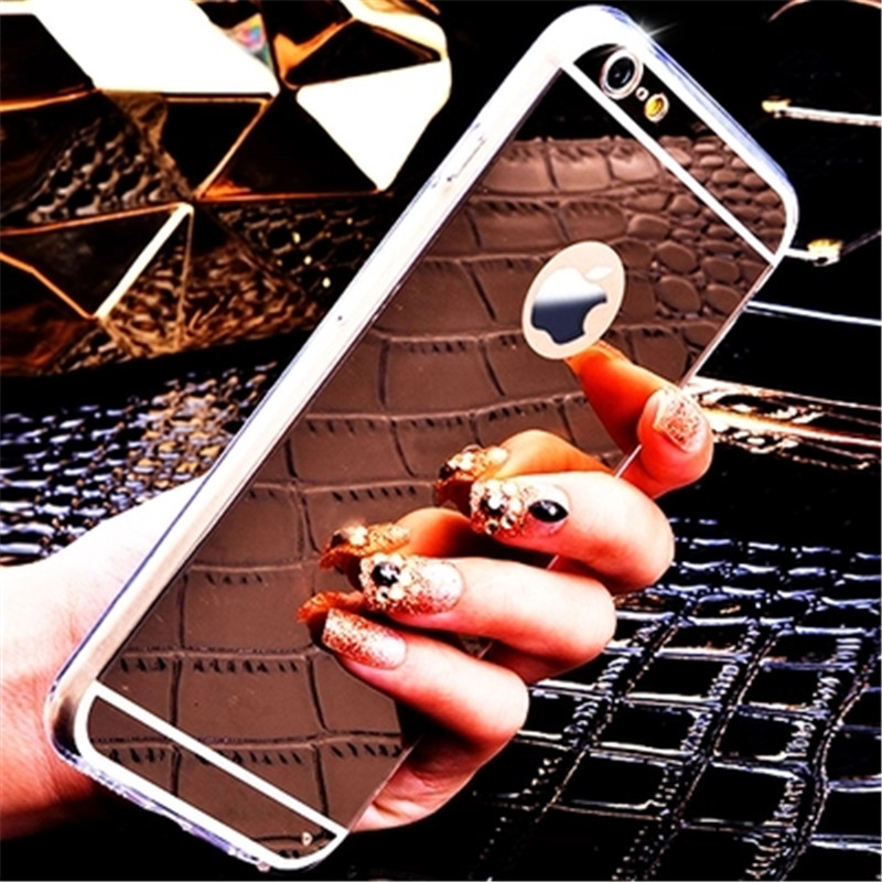 High Quality Soft TPU Fundas For Apple iphone 7 Case 4.7 Electroplating Mirror Cover Luxury For iphone 7 Plus Mobile Phone Bags(China (Mainland))