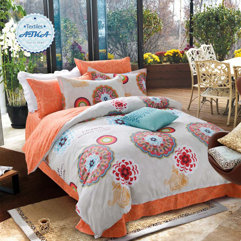 100 Cotton Bohemian Bedding Sets 4pcs Queen Discount