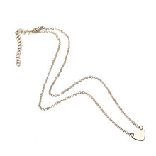X179 Trendy Simple Dubai Jewelry Sets For Women Heart Shaped Gold/Silver Color Chain Necklace&Bracelet 2pcs Jewelry Set Female(China)