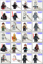 2015 New Star war keychain Minifigures key chain Yoda Sith Clone Building Block DIY Assemble Figure Children Gift Girl Toys(China (Mainland))
