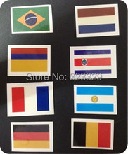 World Cup Flag Face Paint Waterproof Transfer Tattoo Stickers National Team Logo Stickers Cheerleading Fan Gear(China (Mainland))