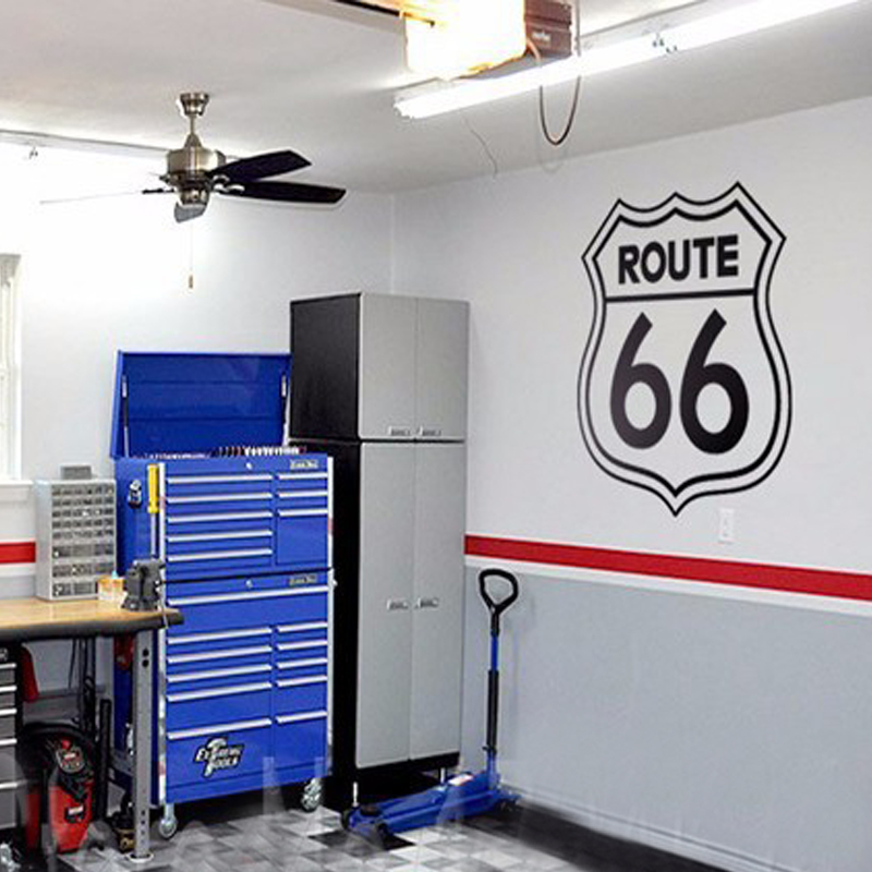 Vintage Signs Route 66 Number Stickers Living Room Wall