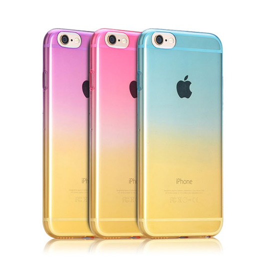 Gradient Transparent Phone Case iPhone 6s 6 6plus Slim Soft Silicone Protective Shell Cover Coque Bags - Little River Mobile Accessories store