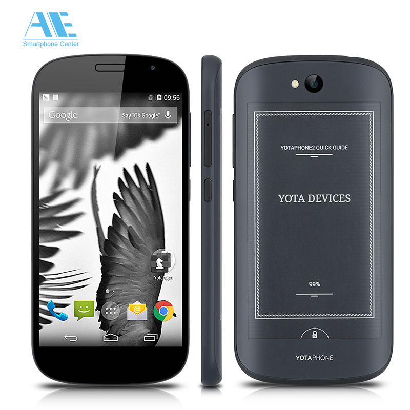 Original YOTAPHONE 2 YD206 Dual Screen Smartphone Snapdragon 801 Android Cell Phone 5.0Inch 2GB RAM 32GB ROM 4G LTE Mobile Phone