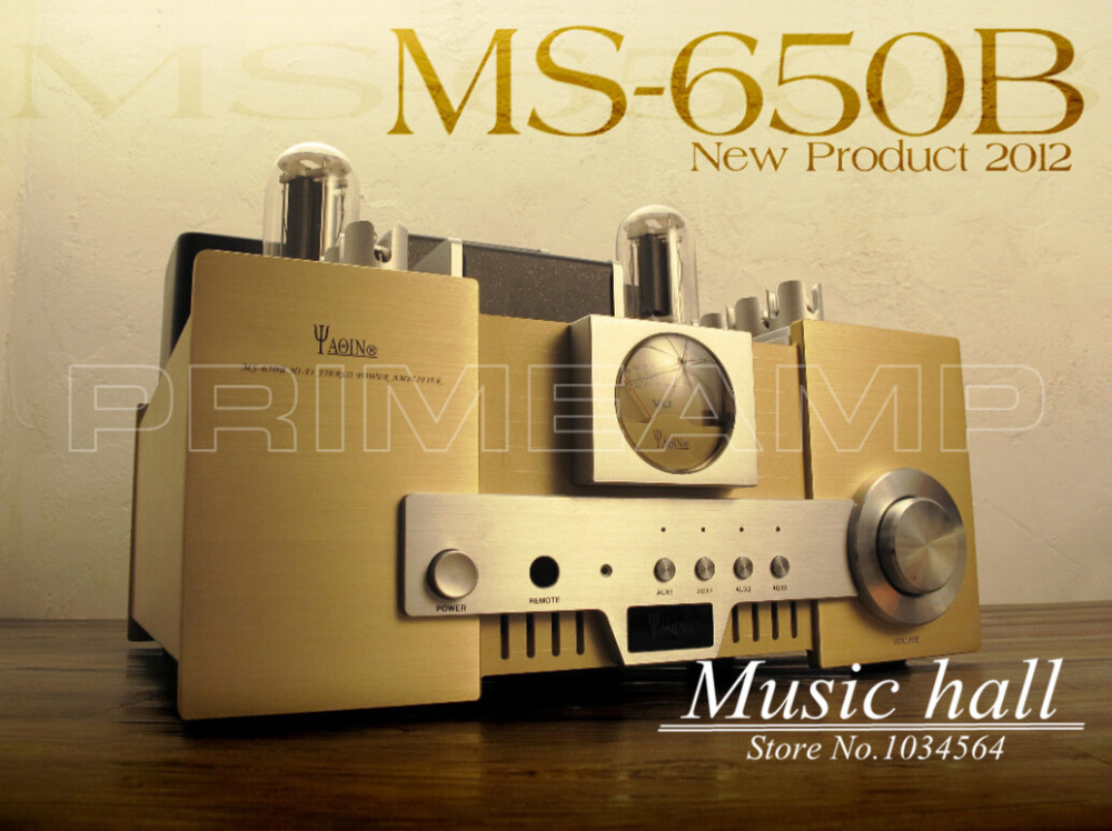 YAQIN MS-650B 845*2 Vacuum Tube Single-ended class A tripolar Merged Hi-end Tube Integrated Amplifier with remote control(China (Mainland))