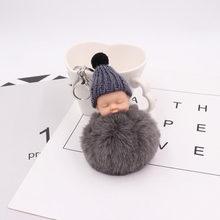 20 pçs/lote Favores Do Partido Bonito do Sono Do Bebê Macio Bolas Chaveiros Personalizados Presente Festival Suprimentos Para Lembrança Do Casamento(China)