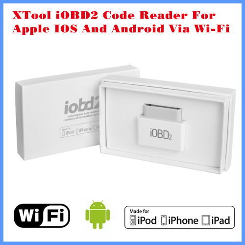 XTool Code Reader iOBD2 vehicle OBD2 / EOBD work with Apple IOS and Android Via WIFI or Bluetooth Support Over 12 languages(China (Mainland))