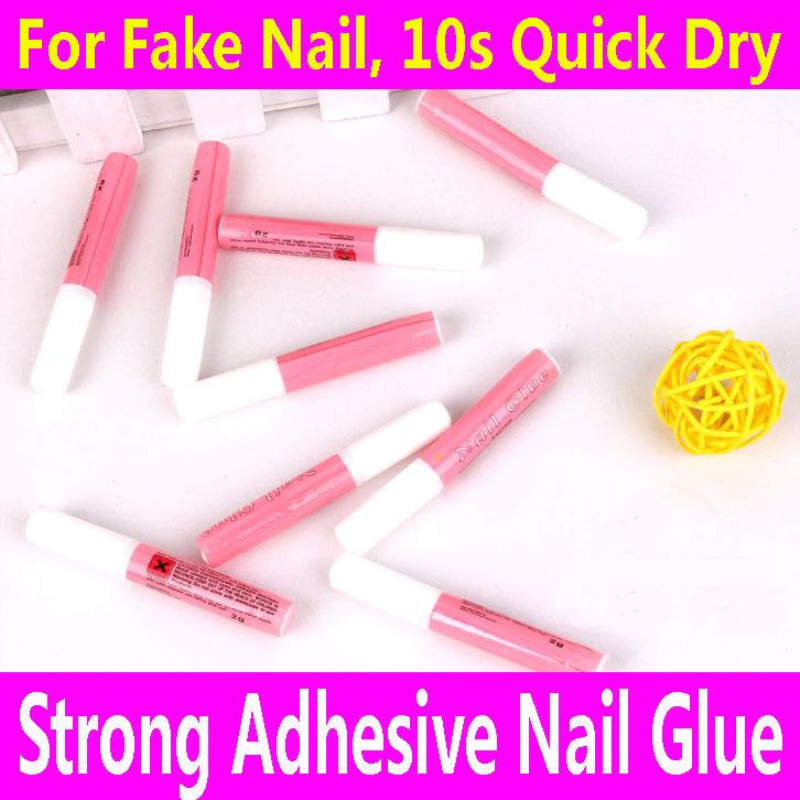 1 piece Nail Glue 2ml Super Strong Adhesive For False Fake Acrylic Nail Rhinestone Beauty Gems Makeup Gel Art Tips Toe Care Tool(China (Mainland))