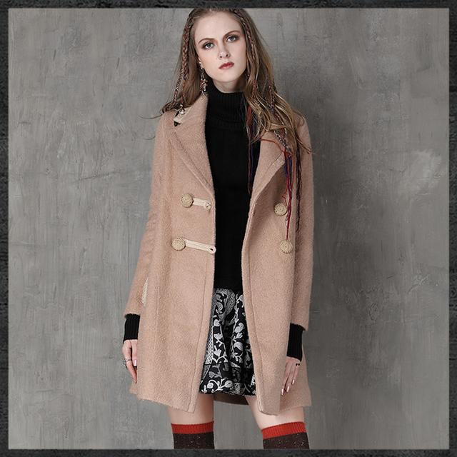 2016 casaco abrigos у куртки весте femme манш casacas longue женщины вышивка куртка женская мода куртки пальто зима