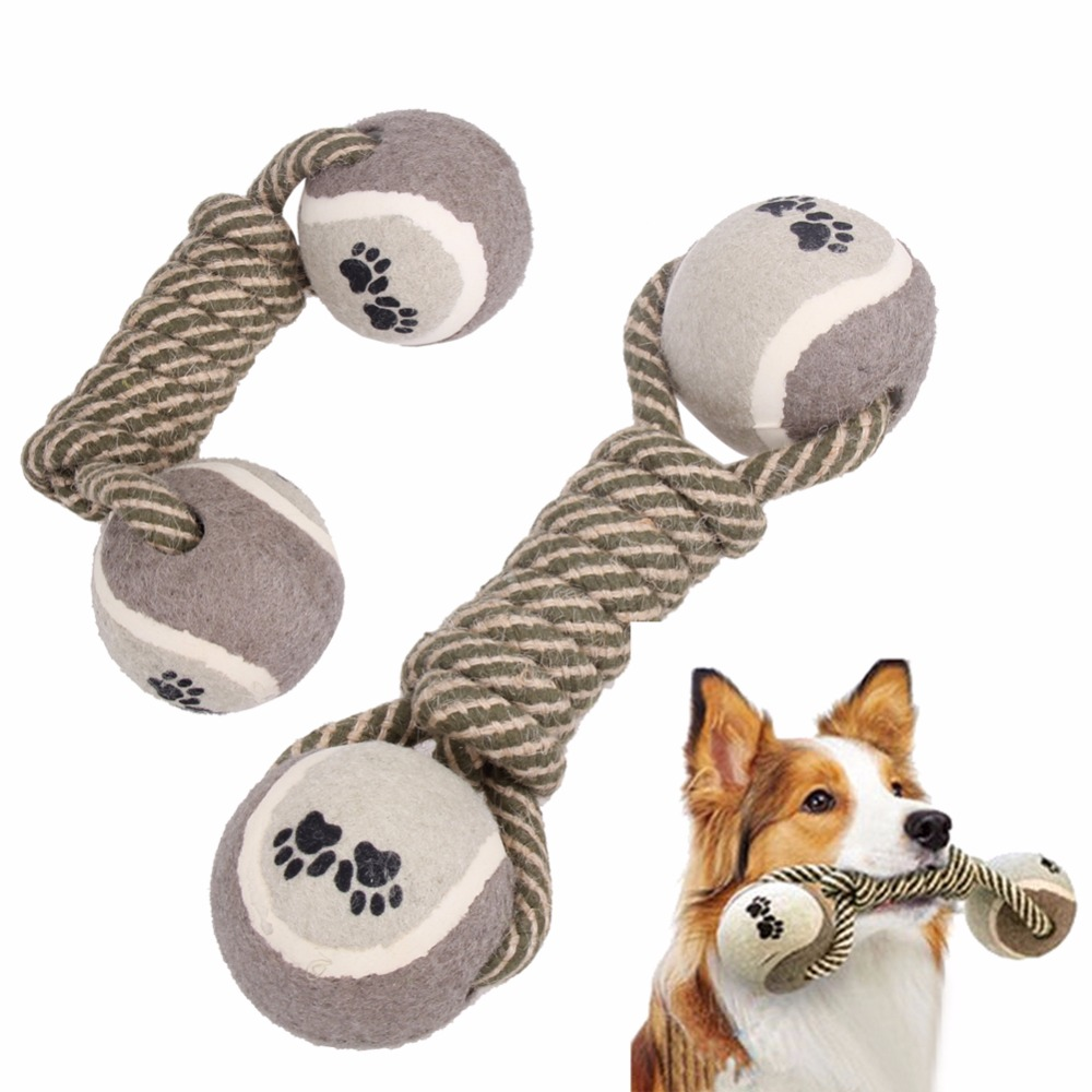 Aliexpress.com : Buy Dog's Chew Toys Dumbbell Rope Tennis ...