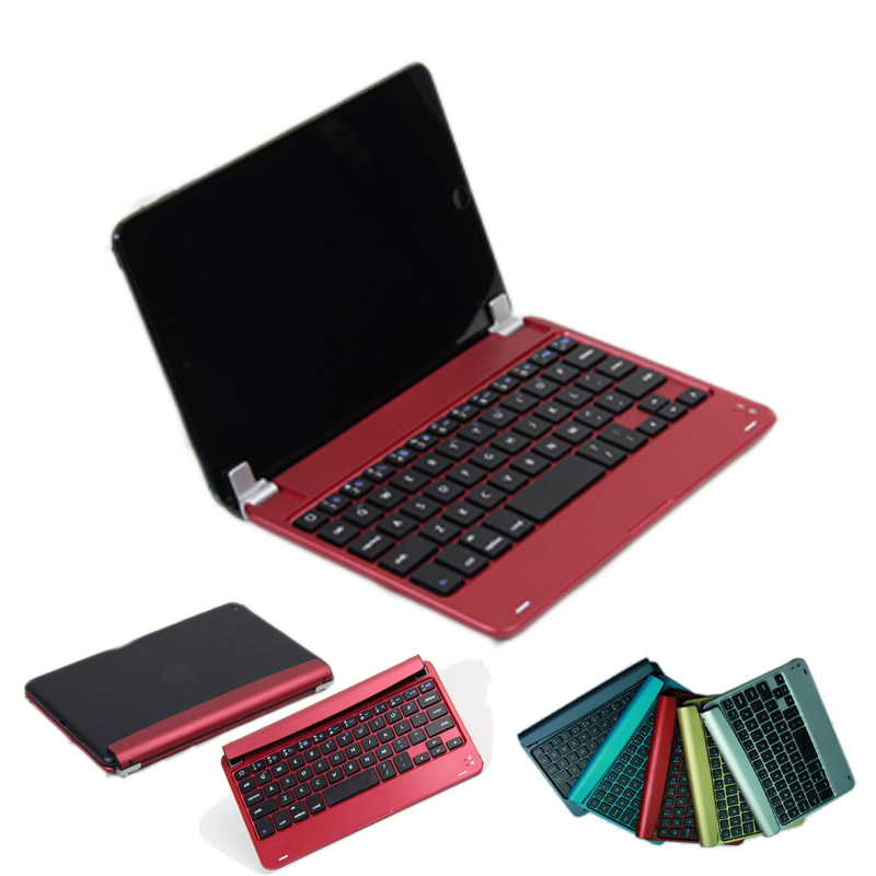 For Apple iPad Mini 4/ Mini 2 Retina/ Mini 3 Bluetooth Keyboard QWERTY (US Keyboard Layout) Case Cover w/ Built-in Stand Groove(China (Mainland))
