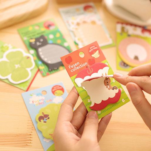 Милая каваи корейский стационарные школьные принадлежности яблоко кошка фруктовых деревьев животных наклейки пост-он отмечает Diy заметки документ