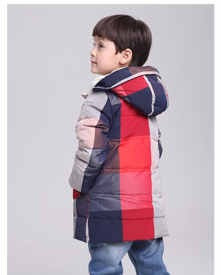 Скидки на 4 ~ 13 Лет ~! бренд Высокого Качества детская Зимой Вниз Хлопка Куртки Детские Теплые Вниз Пальто Девушки и Мальчики Верхняя Одежда Бесплатная доставка