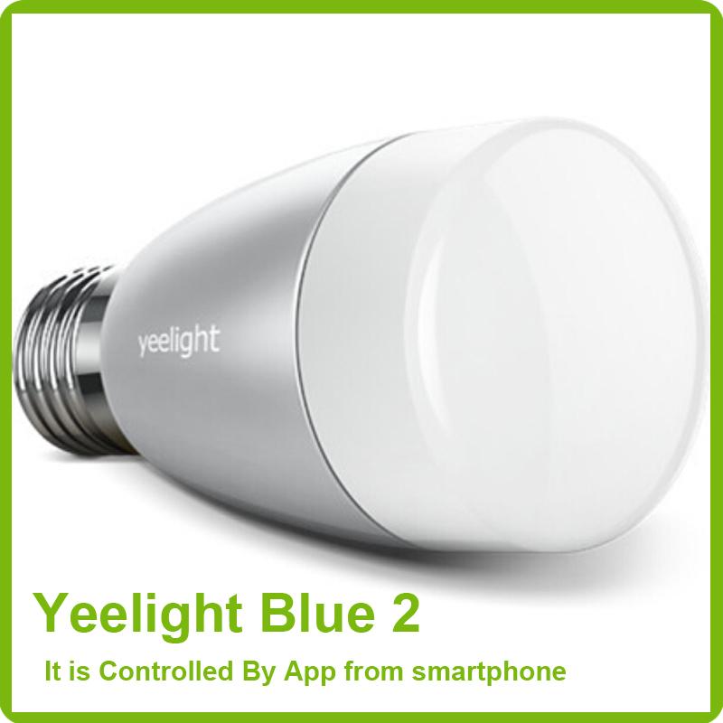 Гаджет  100% Xiaomi Brand Yeelight Blue II Bluetooth Bulb 4.0 Smartphone App Remote Control Light 6W E27 RGBW Color Changeable Mi Light None Свет и освещение