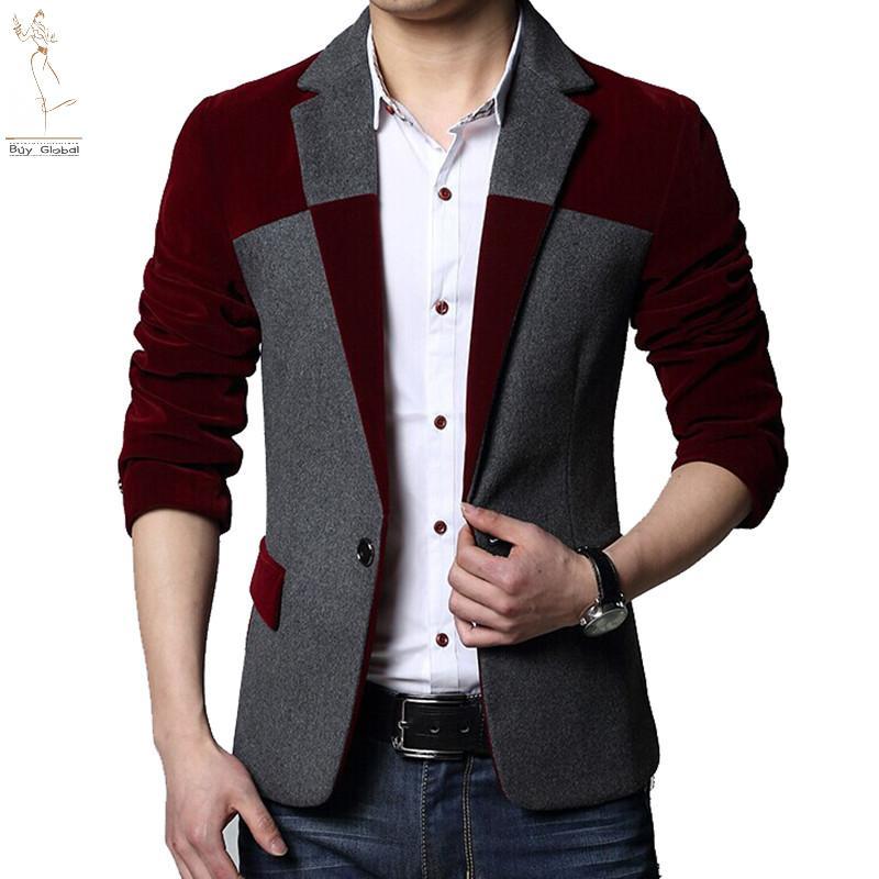 2015 mens blazer dress designs casual slim fit suit jacket for Blazer with dress for wedding