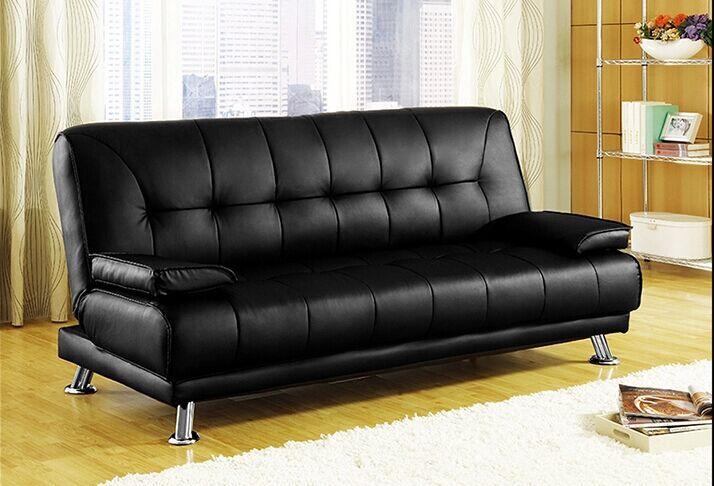 PU black sofa bed(China (Mainland))