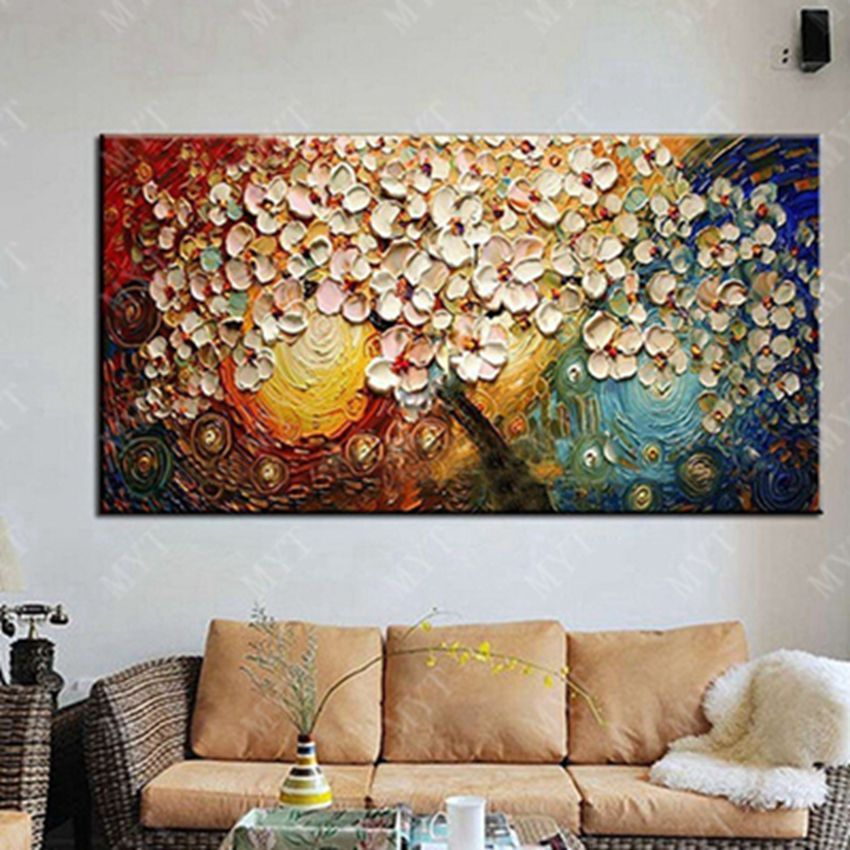 Buy free shipping handpainted canvas wall for Materials for canvas painting