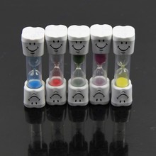 1PC New Mini Smiling Face Sandglass Hourglass Sand Clock Timer 1 Minutes in stock(China (Mainland))