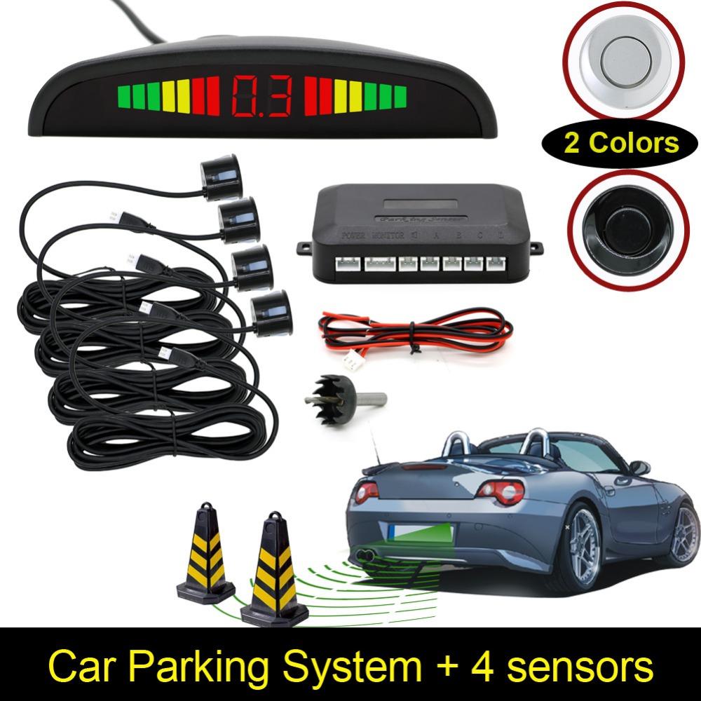 [Unbeatable At $X.99] Car LED Parking Sensor Assistance Reverse Backup Radar Monitor System Backlight Display+4 Sensors(China (Mainland))