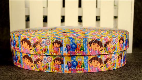 """7 / 8 """"22mm Dora Characters Printed Grosgrain Ribbon 10 Yard Free Shipping 1(China (Mainland))"""