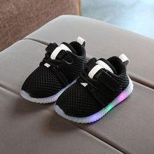 男の赤ちゃん女の子 LED 靴子供ライトアップ発光トレーナーカジュアルスポーツスニーカーサイズ 21-25(China)