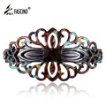 8.4CM Long Rhinestone Bow Barrette Crystal Hair Clips Women Girls Black Plastic PVC Hair Accessories Headdress Tiara (DY810002)