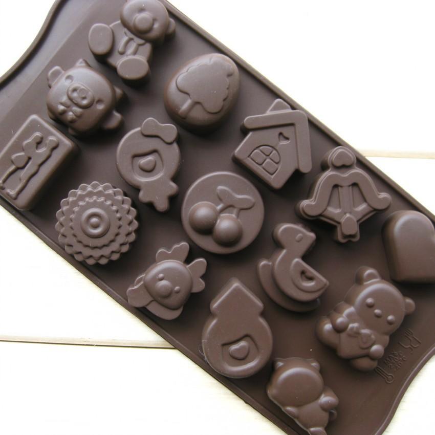 15 hole Silicone Style Cherry house ducks etc cake mold chocolate ice - Hot sales Market store