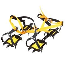 Outdoor climbing Bandage type antiskid crampons Winter walk 10 teeth ice fishing snowshoes non slip nail antiskid shoe sleeve(China (Mainland))