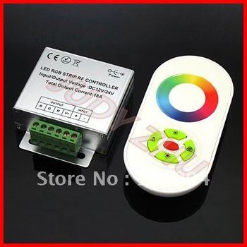 NEW 1x DC 12V 24V RF Dimmer Wireless Touch Touching RGB controller for RGB LED Strip, free shipping