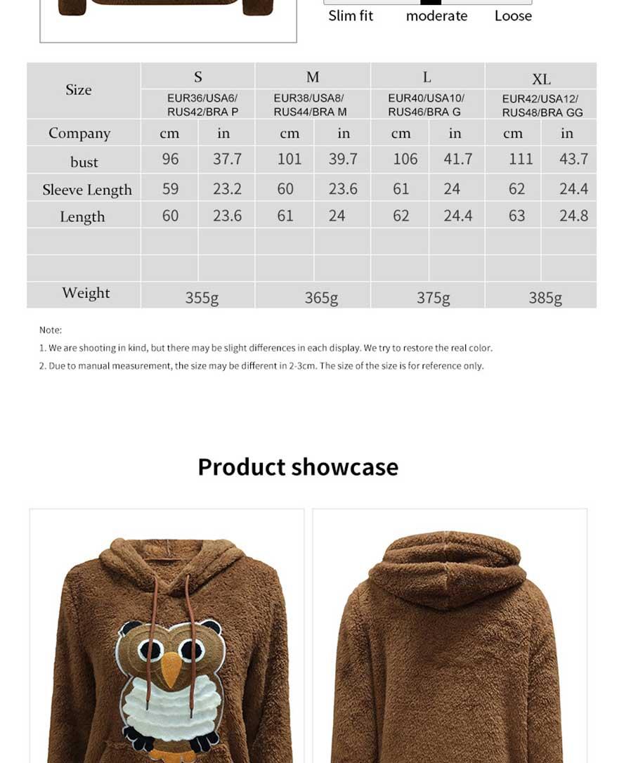 otoño invierno moda búho patrón de manga larga de doble cara de lana ...