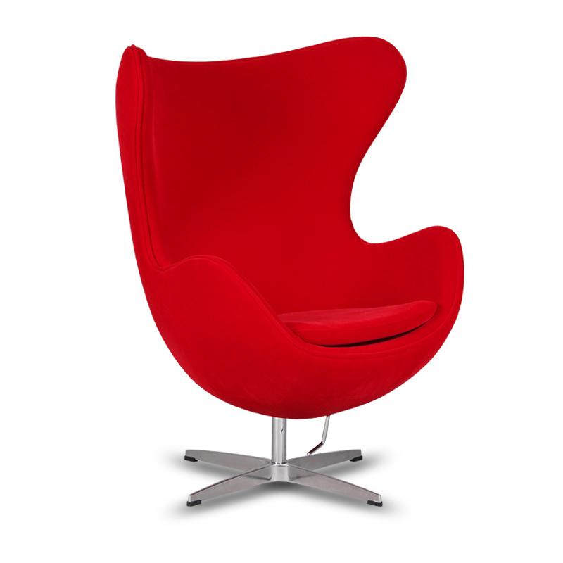 Egg chair egg chair classic design fiberglass inner shell senior velvet revolution chair - Fiberglass egg chair ...