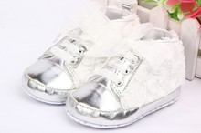 Rose Flower Lace Baby Kids Shoes Soft Bottom Prewalker Toddler Shoes Size 4 5 6(China (Mainland))